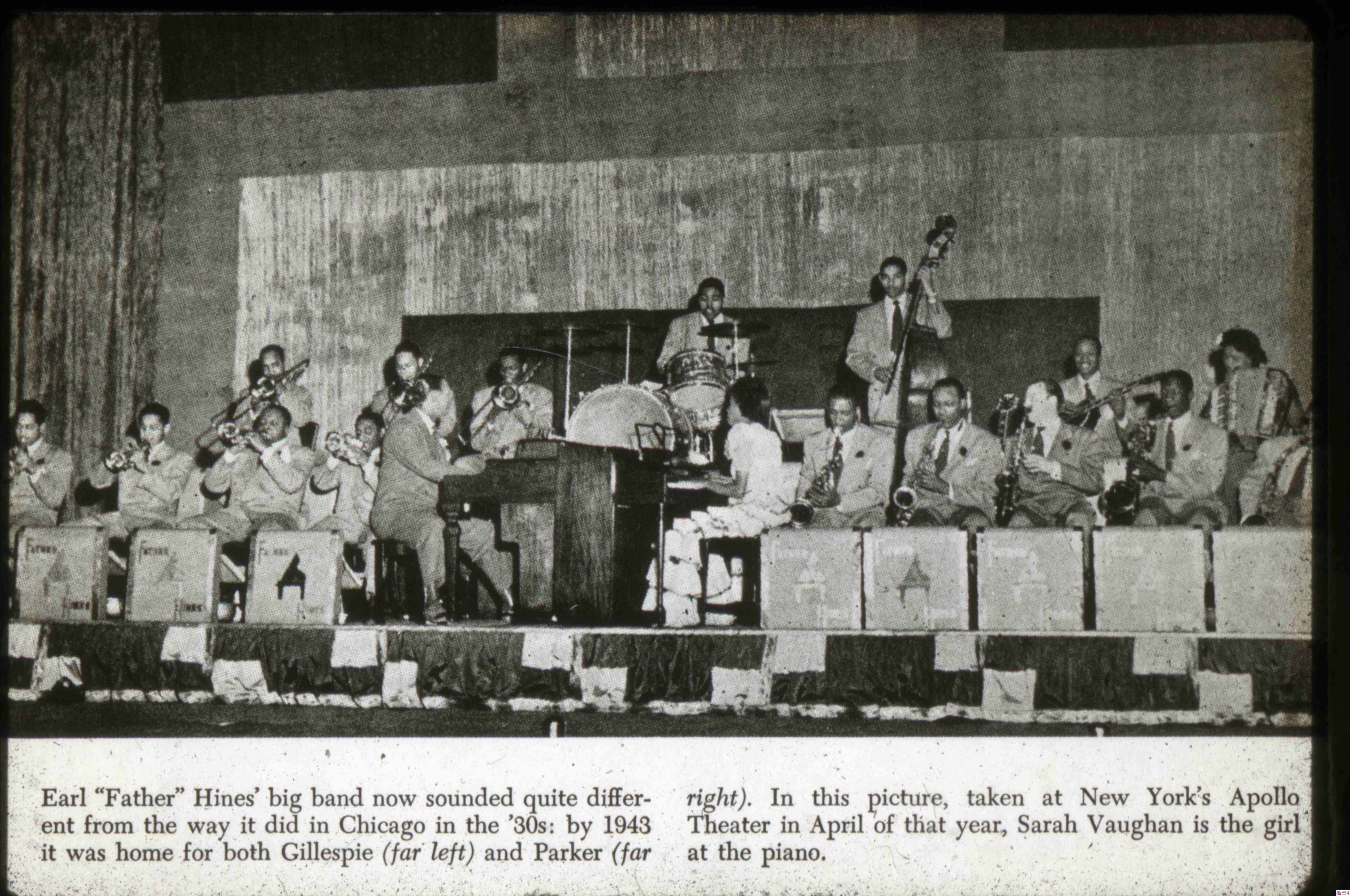 Early Hynes Swing band with Sarah Vaughan on piano