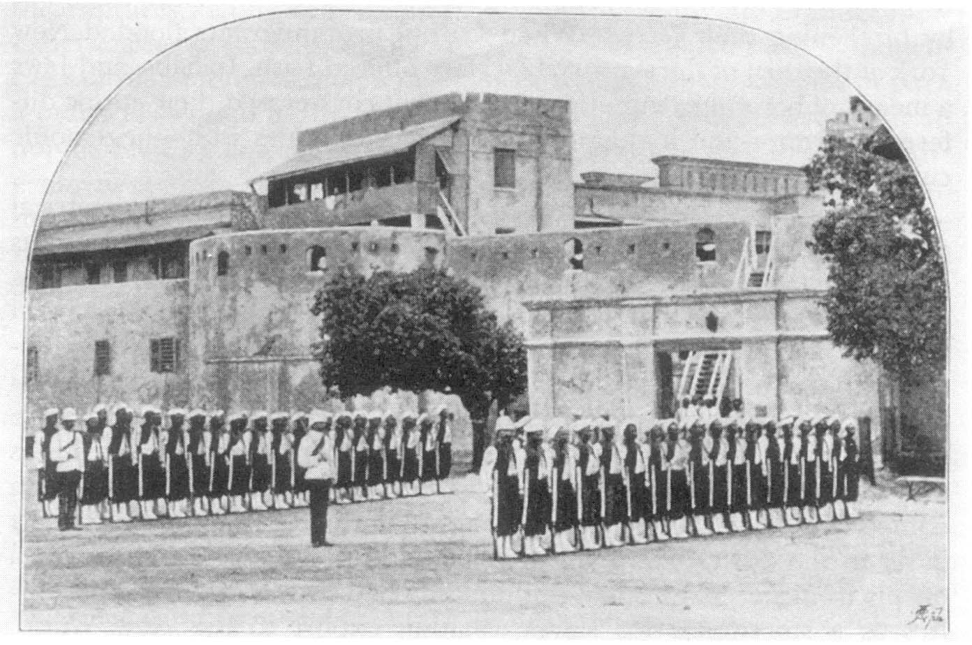 West Indians soldiers at Cape Coast Castle in the 1890s