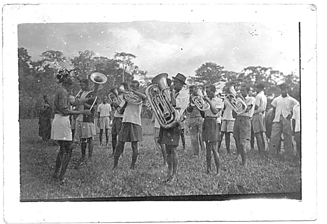 Village brass band near Swedru